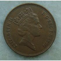 2307 Inglaterra 1990 Two Pence Elizabeth I I 26mm - Bronze