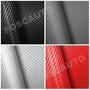Adesivo Fibra Carbono Moldável Textura 3d - 5 Tipos De Cores