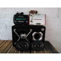 Equipo De Sonido Para Vehiculo Plantas ,bajo,cornetas Y Otro