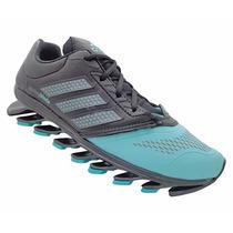 Tênis Adidas Feminino Springblade Drive Preto Verde Original