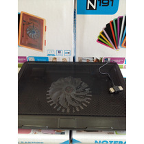 Base Fan Cooler Laptops Luces Mallas Metalica Hasta 17 Pulga