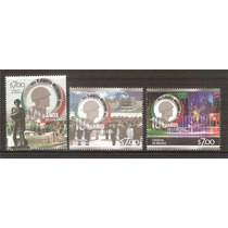2013 Centenario Del Ejército Mexicano 3 Sellos Mnh Militar