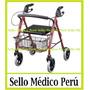 Andador Ortopèdico Plegable C/ruedas Frenos Canasta Asiento