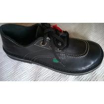 Zapatos Kickers 34 Cuero Modelo Scoop Nuevos Sin Uso Negros