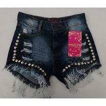 Short Feminino Jeans Plus Size Com Cinto Lojas Bh Oferta 20%