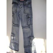 Pantalon Bota Ancha Talla 5/6 Strech