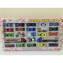 Kit Coleção De Carrinhos 25 Peças Motor Super Star