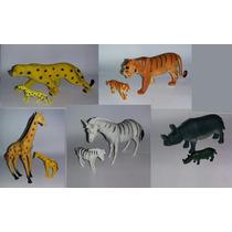 Kit Zoo Zoologico Animais Selvagens E Filhotes
