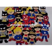 Superheroes En Goma Eva!! X 8 Unidades
