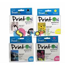Cartuchos Printon 103 Stylus Epson Negro Y Color