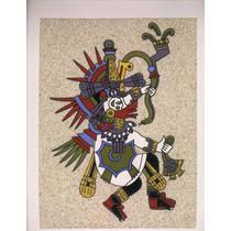 Cuadro De Arena Prehispanico Quetzalcóatl