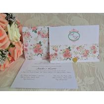Lindo Convite De Casamento Barato Promoção (10un)