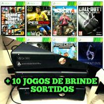 Xbox 360 Slim 4gb Original + Jogos + Garantia + Frete Grátis