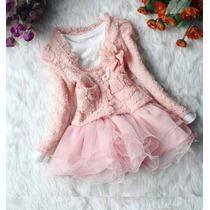 Vestido Infantil Com Casaquinho Lindíssimo. Poucas Peças!!!