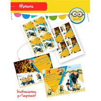 Invitaciones De Minion Y Mi Villano Favorito P/imprimir!