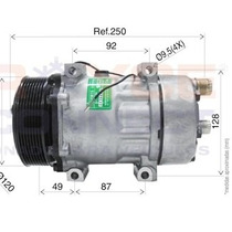Compressor Universal 7h15 - 8pk 12v Ducato Jumper Boxter