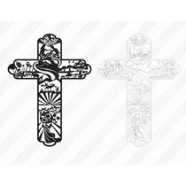 Vectores Pasajes Biblicos En Cruz - Corte Laser Y Cnc