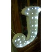 Letra Luminosa De 40 Cm De Alto Con Luces Y Doble Cuerpo