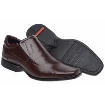 Sapato Social Masculino Couro Flexível Confortável Forrado