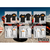 Remeras Estampadas Ktm + Calco De Regalo