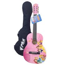 Violão Infantil Rosa Disney Princesas + Capa Brinde (989751)