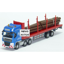 Miniatura Caminhão Madeireiro / Madeira Kaidiwei