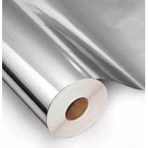 Adesivo Contact Metalizado Espelhado Prata 45cm X 10 Metros
