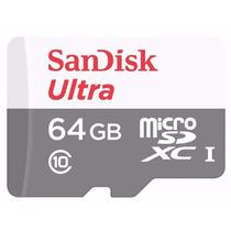 Cartão Micro Sdxc 64gb Ultra Sd Sandisk Classe 10 48mb/s
