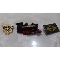 Lote 3 Itens - Pin Turismo Brasil Trem Bandeira Acampamento