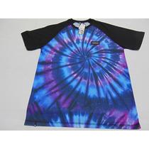 Camiseta Drop Dead Raglan Pschyco Tie Dye 2016 P.entrega