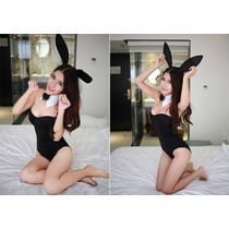 Lenceria Sexy Disfraz Conejita Nuevo Bodysuit Completo Oreja