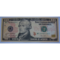 Cédula Nota Dez (10) Dólares Americanos Fe Pague Até 12 X