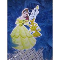 12 Invitacion Con Cadenita Princesa Bella