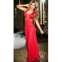 Vestidos Largos De Lycra,latex ,puntilla,tallas Stock