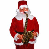 Papai Noel Gigante Grande Musical Toca Dança Saxofone Natal