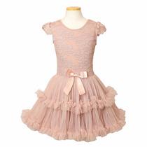 Popatu, Vestido Formal Para Niña Elegante De Fiesta 4colores