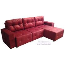 Sofá Com Chaise Modulado