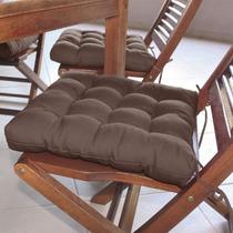 Assento Para Cadeira Futon 40x40 Cm - Marrom