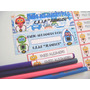 Etiquetas Escolares Personalizadas Calcomanias Adhesivas