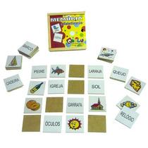 Jogo Memoria P/ Alfabetização Cod. 1038 Carlu 40 Peças Mdf