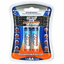 Bateria Recargable Aa De 2700 Ni-mh Marcakeyko Paq Con 2 Bat
