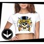 Blusa Cropped Guns N Roses Banda Rock Camisa Feminina