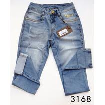 Calça Jeans Realça Bumbum Oppnus Feminina Skinny Lycra 3168