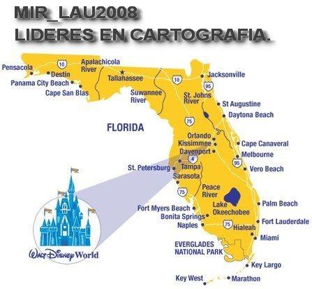 mapa de miami florida Mapas De Florida Miami Full + Disney 2018 P/ Gps Nuvi Drive   $ 99  mapa de miami florida