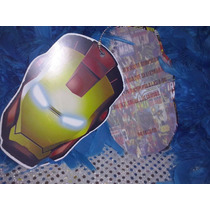 12 Invitacion Con Cadenita Iron Man