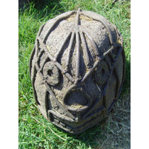 Cabeza Artesanal De Piedra Estilo Antiguo.