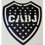 Logo Escudo Futbol Boca Juniors En Acero Inoxidable 10 Cm