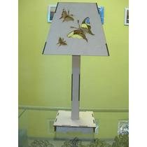 Velador De Mesa Chico 35cm Motivo Que Elijas De Fibrofacil
