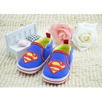 Sapatinho Tênis Bebe Criança Azul Super Man Super Homem