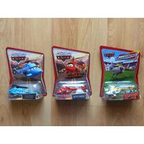 3 Disney Pixar Cars Helicoptero Dinoco Kathy Ron Hover .